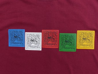 TSrt58 T-Shirt Drapeaux de Prières