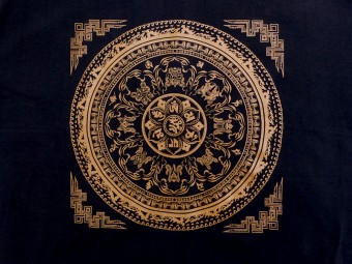 TSrt69 T-Shirt Mantra Mandala Signes Auspicieux