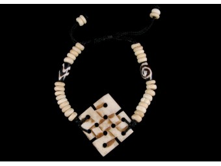 BrD78 Bracelet Tibétain Noeud Sans Fin