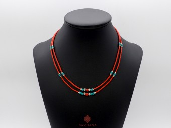 CD161 Collier Tibétain 49 cm