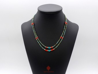 CD163 Collier Tibétain 49 cm