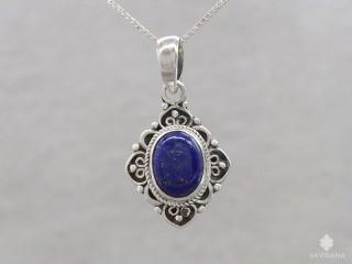 PA602 Pendentif Argent Massif Lapis Lazuli