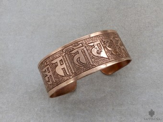 BrD362 Bracelet Tibétain Cuivre Mantra