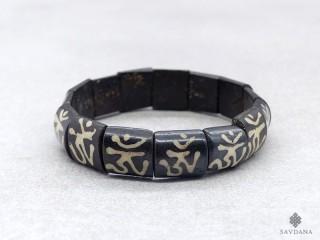 BrD375 Bracelet Tibétain Om