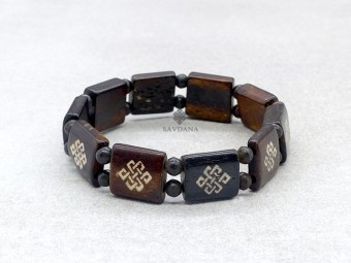 BrD376 Bracelet Tibétain Noeud Sans Fin