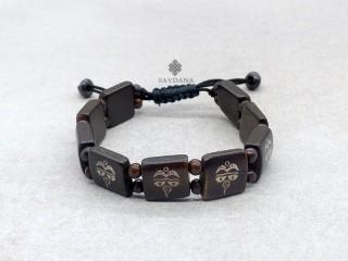 BrD378 Bracelet Tibétain Yeux de Bouddha