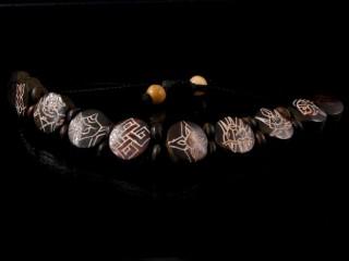 BrD86 Bracelet Tibétain Astamangala Os de Buffle