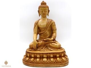 St93 Statue Bouddha Astamangala Signes Auspicieux du Bouddhisme