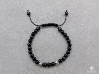 BrMala417 Bracelet Mala de Prières Tibétain Onyx