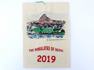Cal03 Calendrier Tibétain 2019 Montagnes du Népal
