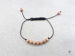 BrMala418 Bracelet Mala de Prières Tibétain Bois