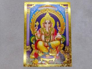 AF117 Petite Affiche / Carte du Népal Ganesh