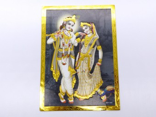 AF120 Petite Affiche / Carte du Népal Krishna et Radha