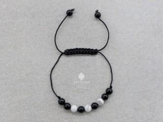 BrMala424 Bracelet Mala de Prières Tibétain Onyx Howlite