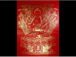 AF26 Affiche Tibétaine Papier Népalais Bouddha