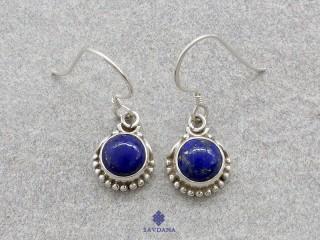 BdOA205 Boucles d'Oreille Argent Massif Lapis Lazuli