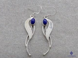 BdOA206 Boucles d'Oreille Argent Massif Lapis Lazuli