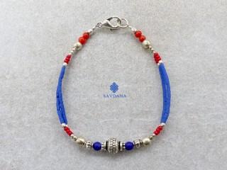 BrD338 Bracelet Tibétain 20 cm