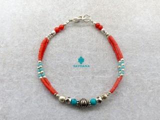 BrD339 Bracelet Tibétain 19 cm