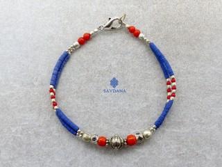 BrD342 Bracelet Tibétain 18 cm