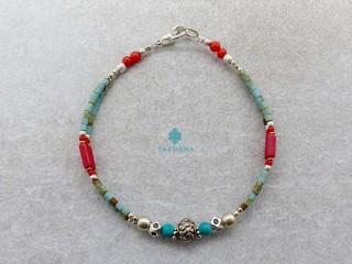 BrD344 Bracelet Tibétain 18 cm