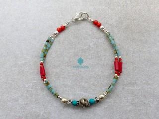 BrD345 Bracelet Tibétain 18 cm