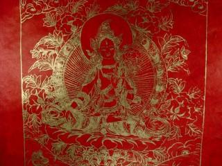 AF43 Affiche Tibétaine Papier Népalais Tara