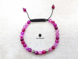 BrMala432 Bracelet Mala Agate