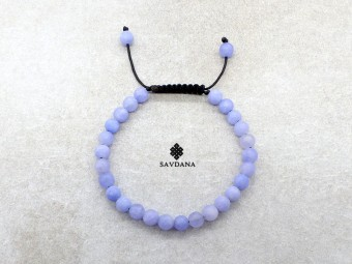 BrMala437 Bracelet Mala de Prières Tibétain Jadéite Mat