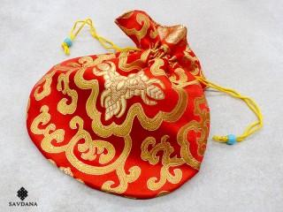 PochTib104 Pochette Tibétaine pour Mala