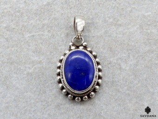 PA482 Pendentif Argent Massif Lapis Lazuli