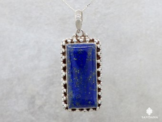 PA26 Pendentif Argent Massif Lapis Lazuli