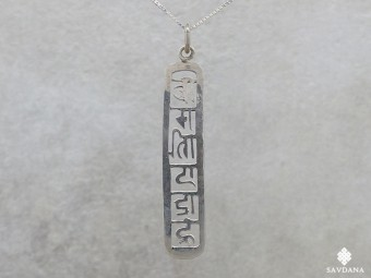 PA66 Pendentif Argent Massif Mantra