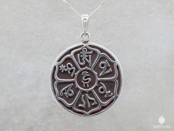 PA155 Pendentif Argent Massif Mantra