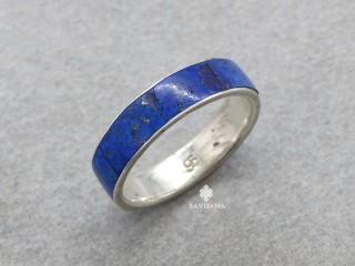 BA213 Bague Argent Massif Lapis Lazuli