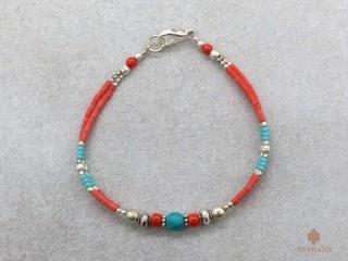 BrD293 Bracelet Tibétain 18,5 cm