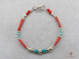 BrD341 Bracelet Tibétain 17,5 cm