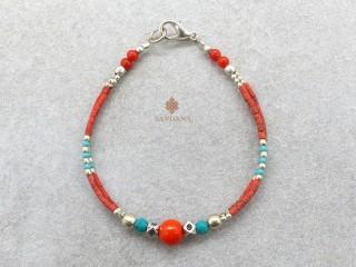 BrD349 Bracelet Tibétain 17,5 cm