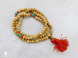 Mala150 Mala de Prières Tibétain Os de Buffle