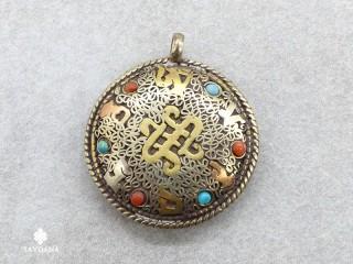 P07 Pendentif Tibétain Mantra Om