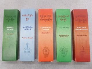 Ens12 Lot de 5 Boites d'Encens Tibétain