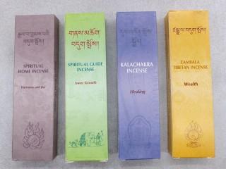 Ens13 Lot de 4 Boites d'Encens Tibétain