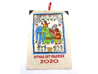 Cal02 Calendrier Art Mithila du Népal