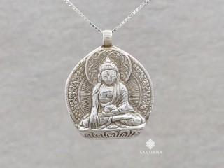 PA622 Pendentif Argent Massif Bouddha