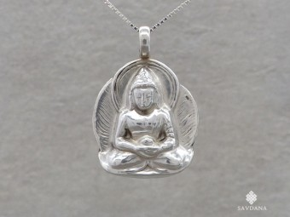 PA623 Pendentif Argent Massif Bouddha