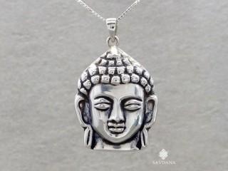PA624 Pendentif Argent Massif Bouddha