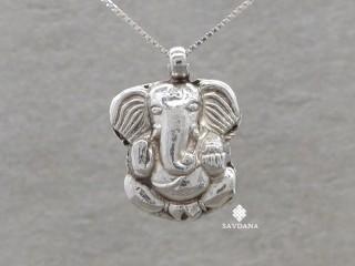 PA625 Pendentif Argent Massif Ganesh