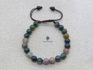 BrMala451 Bracelet Mala de Prières Tibétain Agate