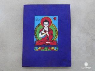 CrA195 Carnet Artisanal Népalais Bouddha