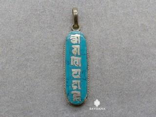 P106 Pendentif Tibétain Mantra